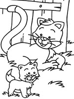 Coloriage chat sur top coloriages coloriages chat - Dessin de chatte ...