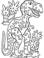 Coloriage dinosaure sur top coloriages coloriages dinosaure - Dessin de tyrannosaure ...