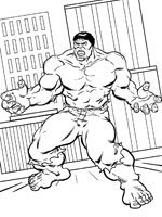 coloriage de lincroyable hulk