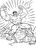 coloriage de victoire de hulk