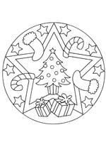 Coloriage Mandala Noel.Coloriage Mandala De Noel