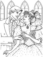 Coloriage de Les mariés se passent l'alliance