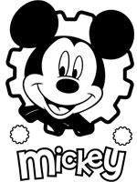 coloriage de portrait de mickey