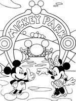 Coloriages de mickey et mini - Coloriage mickey et minnie ...