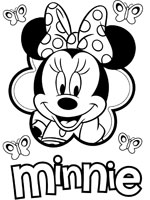 Coloriage minnie sur top coloriages coloriages minnie - Coloriage tete mickey ...