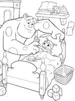 coloriage monstres et cie sur top coloriages coloriages monstres cie. Black Bedroom Furniture Sets. Home Design Ideas
