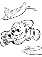 coloriage de le monde de nemo - Coloriage Nemo