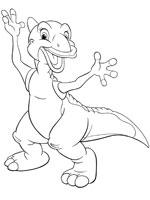 Coloriage le petit dinosaure sur top coloriages - Petit pieds dinosaure ...