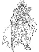 Davy jones coloring pages coloring coloring pages - Coloriage pirate des caraibes ...