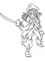 Coloriage pirate fantome - Coloriage pirate des caraibes ...