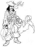 Coloriage de jack sparrow - Coloriage jack le pirate ...