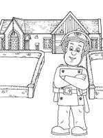 coloriage sam le pompier sur top coloriages coloriages. Black Bedroom Furniture Sets. Home Design Ideas