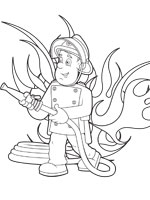 Coloriage En Ligne Sam Le Pompier.Coloriage Sam Le Pompier Sur Top Coloriages Coloriages Sam Pompier