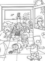 Coloriage Les Simpson Sur Top Coloriages Coloriages Simpson