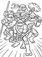 Coloriage Tortues Ninja