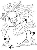 Coloriage Maison Cochon.Coloriage Les Trois Petits Cochons Sur Top Coloriages Coloriages