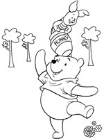 Coloriage winnie l 39 ourson sur top coloriages coloriages - Porcinet dessin ...