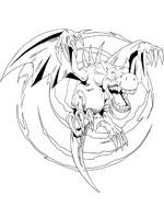 Coloriage yu gi oh sur top coloriages coloriages yu gi oh - Aile de dragon dessin ...